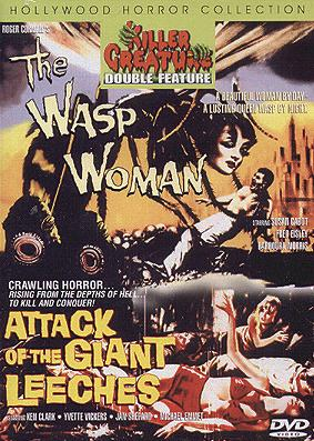 Wasp Woman / Giant Leeches DVD